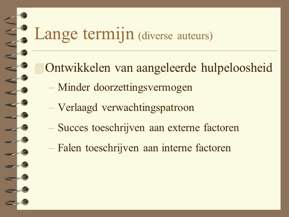 Lange termijn (diverse auteurs)