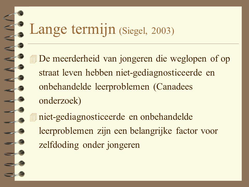 Lange termijn (Siegel, 2003)