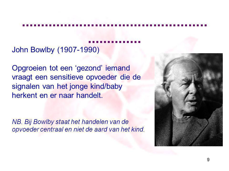 .............................................................. John Bowlby (1907-1990)