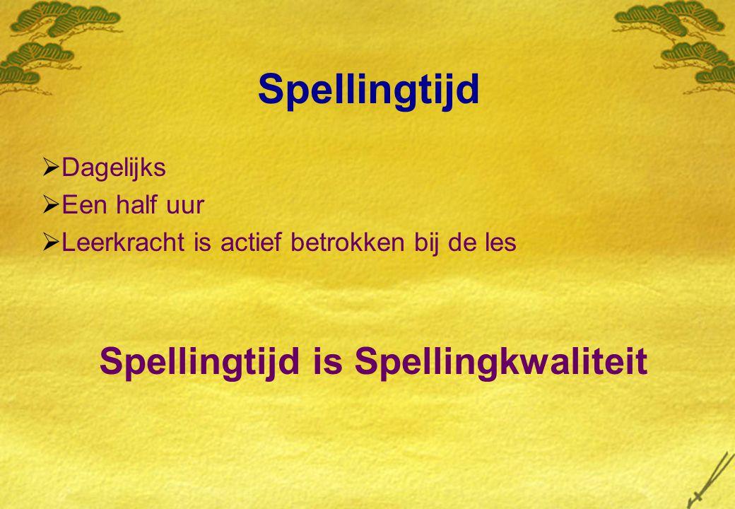 Spellingtijd is Spellingkwaliteit