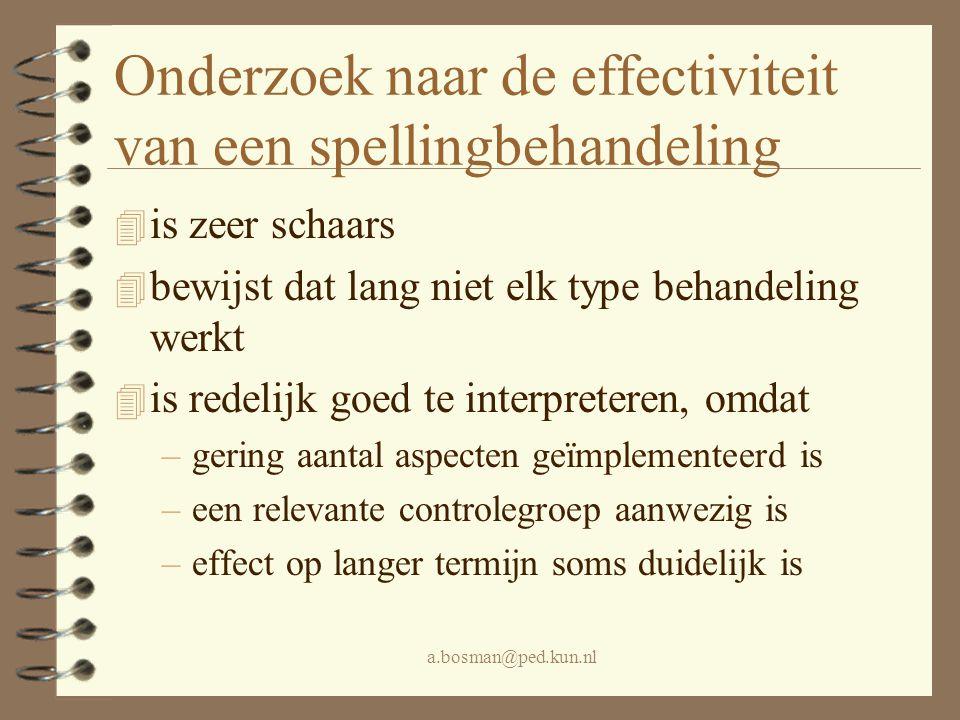 Onderzoek naar de effectiviteit van een spellingbehandeling
