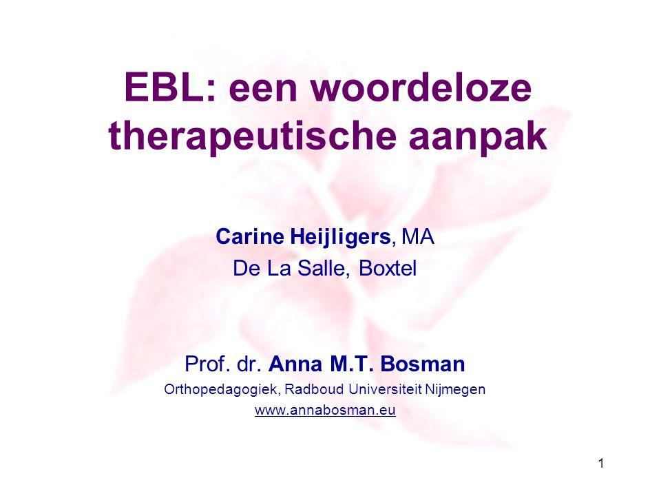 EBL: een woordeloze therapeutische aanpak