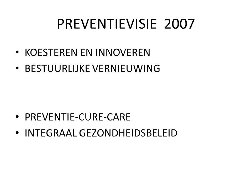 PREVENTIEVISIE 2007 KOESTEREN EN INNOVEREN BESTUURLIJKE VERNIEUWING