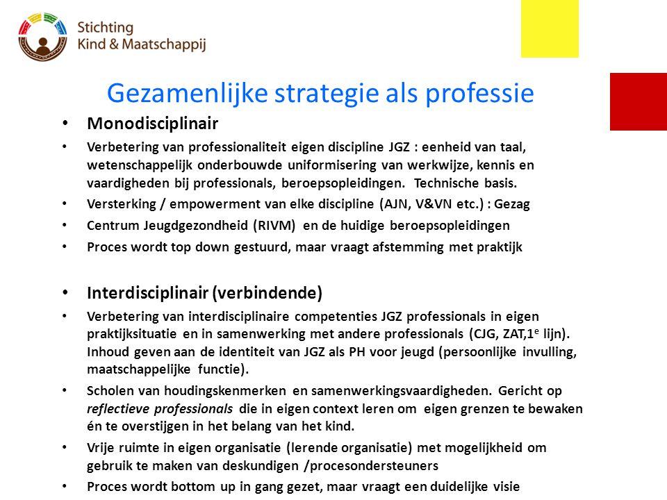 Gezamenlijke strategie als professie