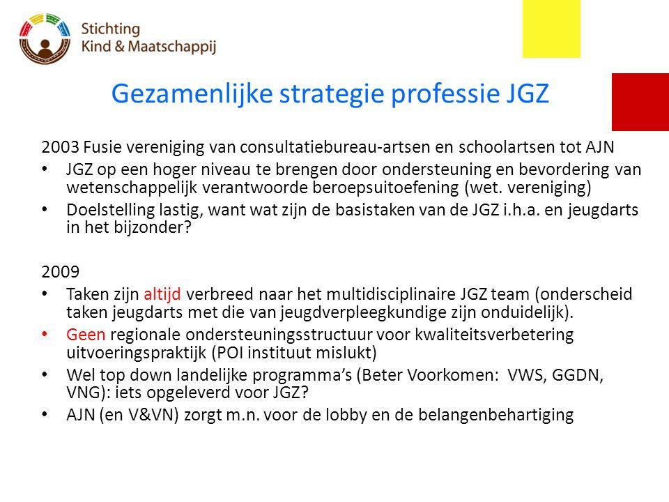 Gezamenlijke strategie professie JGZ