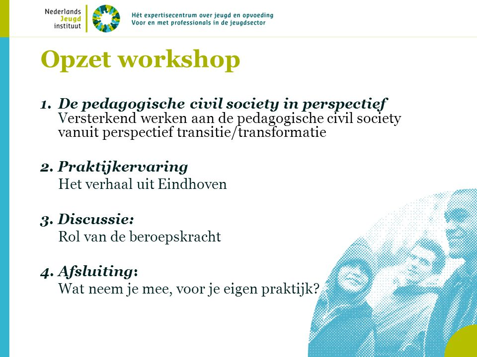 Opzet workshop