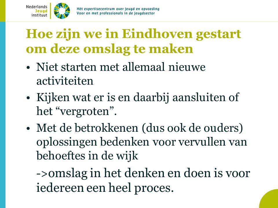 Hoe zijn we in Eindhoven gestart om deze omslag te maken