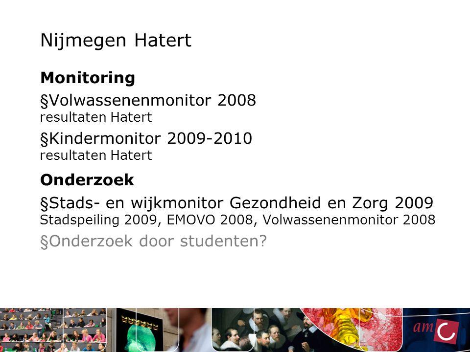 Nijmegen Hatert Monitoring Volwassenenmonitor 2008 resultaten Hatert