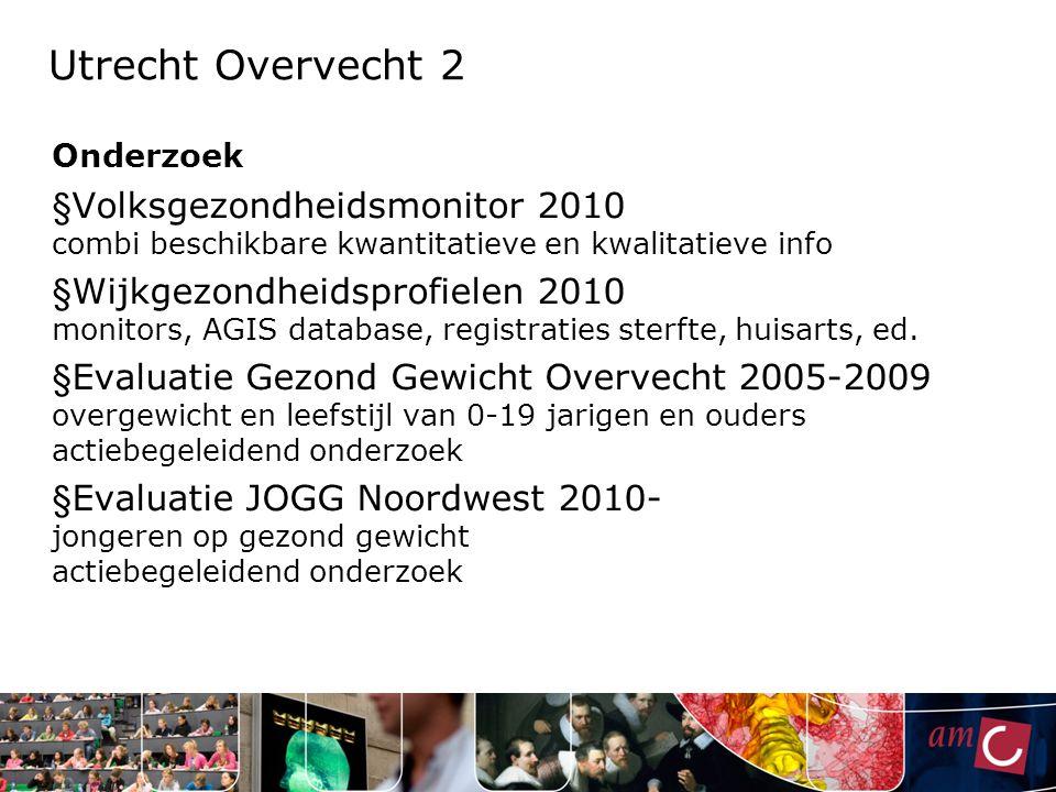 Utrecht Overvecht 2 Onderzoek. Volksgezondheidsmonitor 2010 combi beschikbare kwantitatieve en kwalitatieve info.