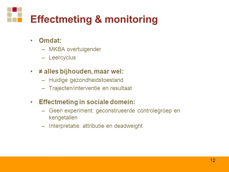 Effectmeting & monitoring