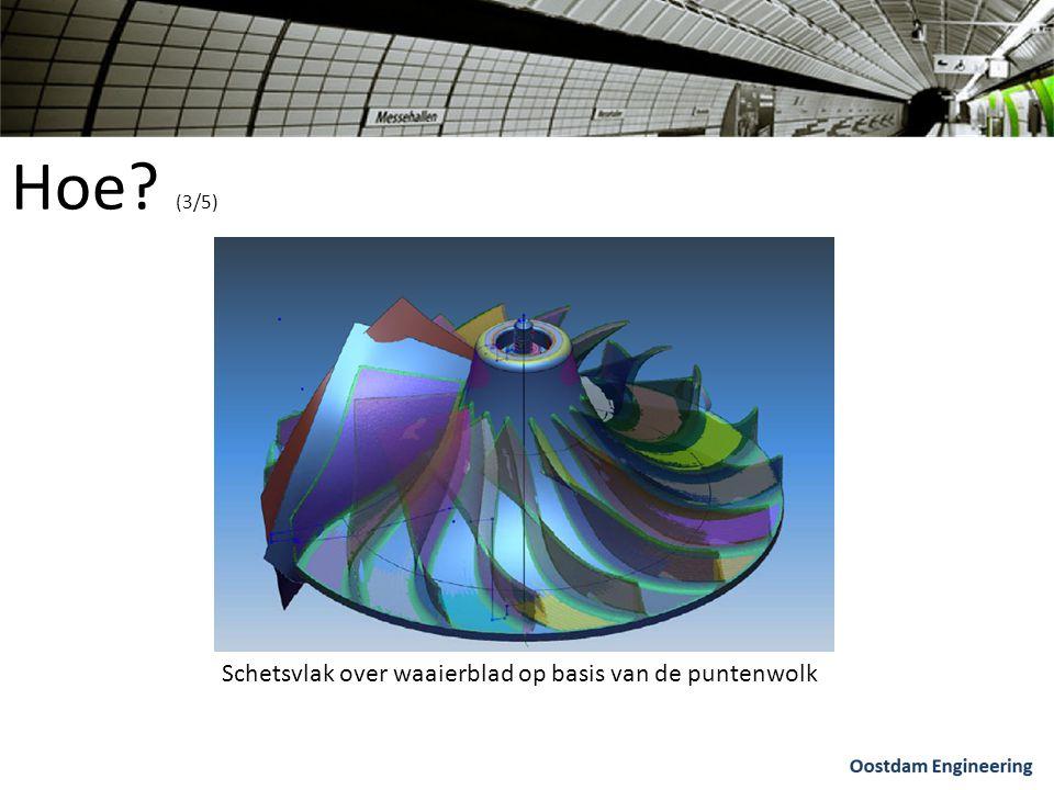 Hoe (3/5) Schetsvlak over waaierblad op basis van de puntenwolk