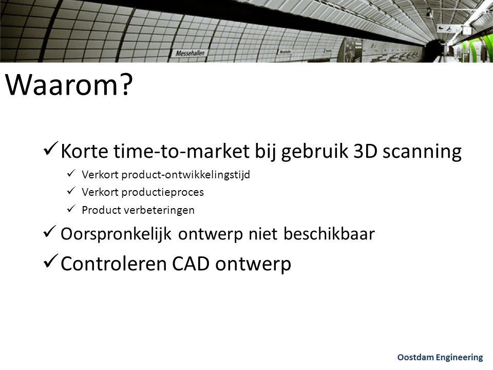Waarom Korte time-to-market bij gebruik 3D scanning