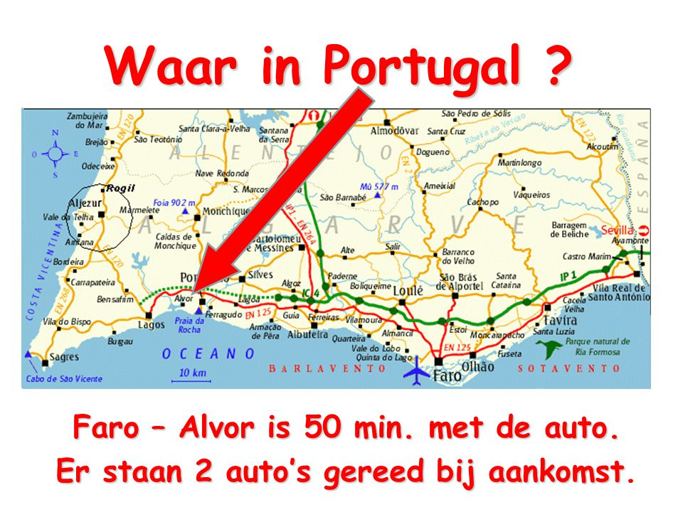 Waar in Portugal Faro – Alvor is 50 min. met de auto.