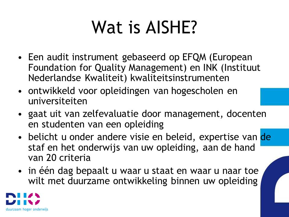 Wat is AISHE