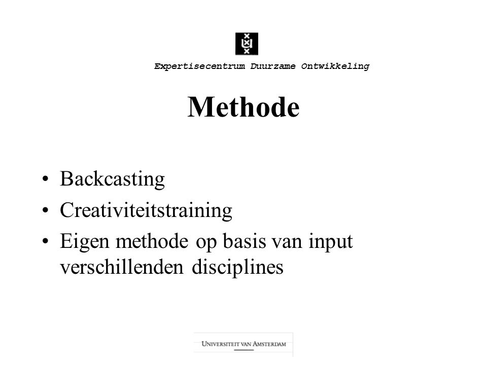 Methode Backcasting Creativiteitstraining