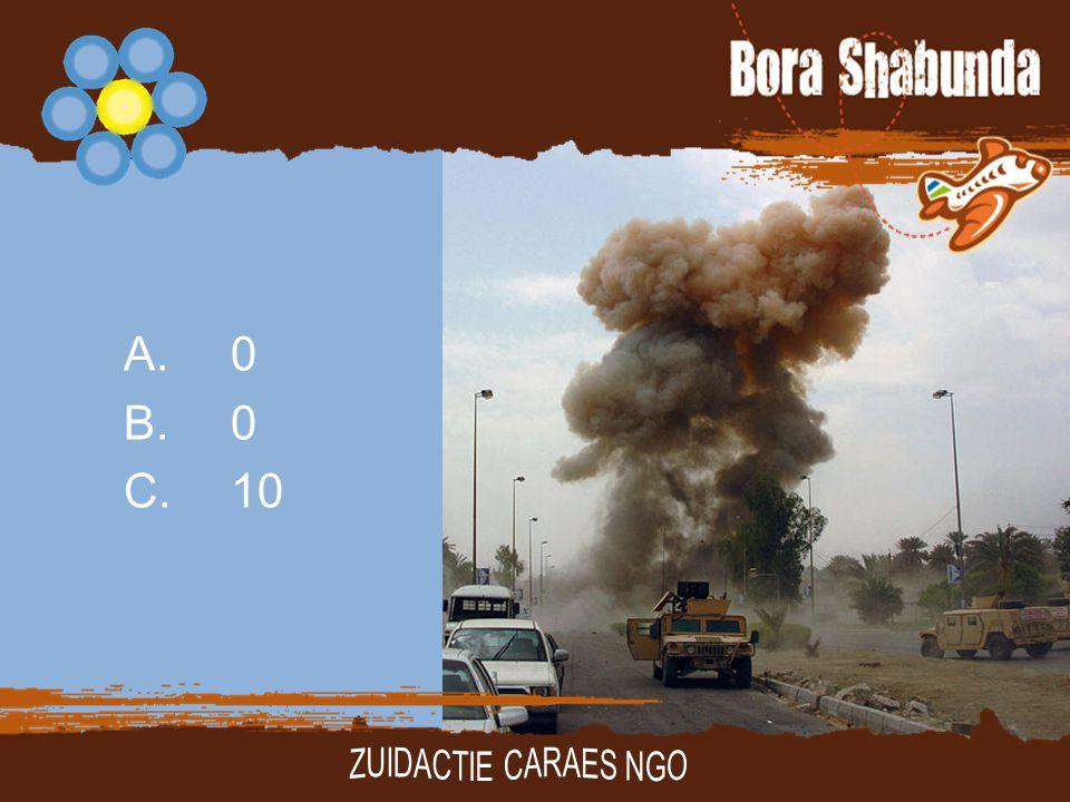 A. 0 B. 0 C. 10 ZUIDACTIE CARAES NGO