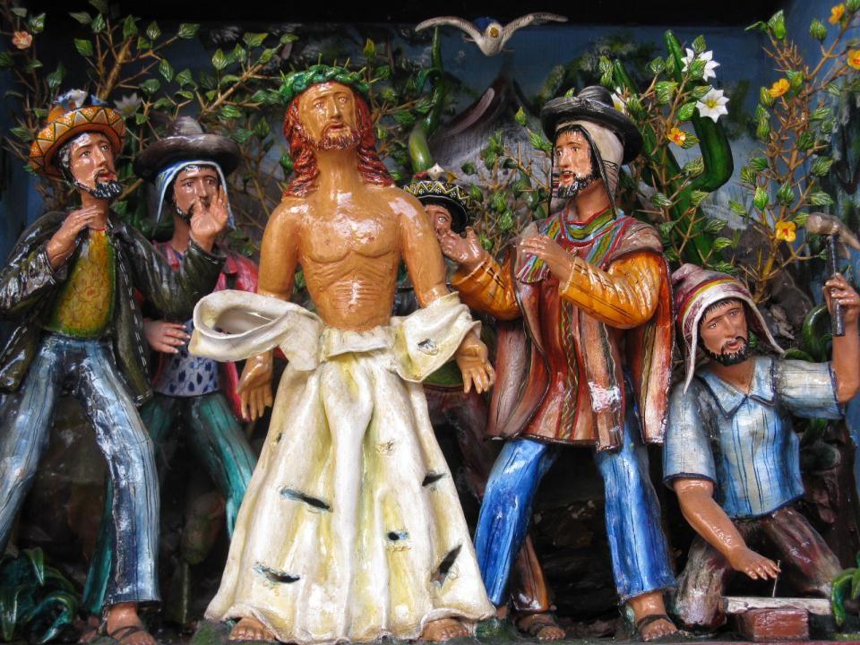 Jezus komt aan op Golgotha