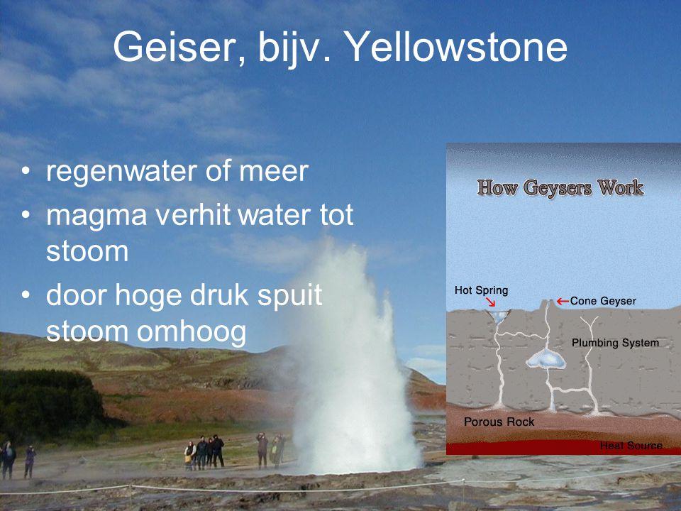 Geiser, bijv. Yellowstone