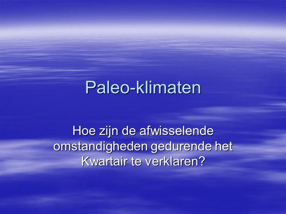 Paleo-klimaten Hoe zijn de afwisselende omstandigheden gedurende het Kwartair te verklaren