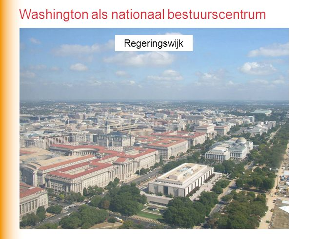 Washington als nationaal bestuurscentrum