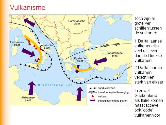 Vulkanisme Toch zijn er grote ver-schillen tussen de vulkanen.