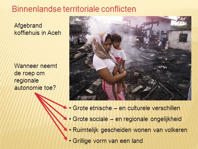 Binnenlandse territoriale conflicten