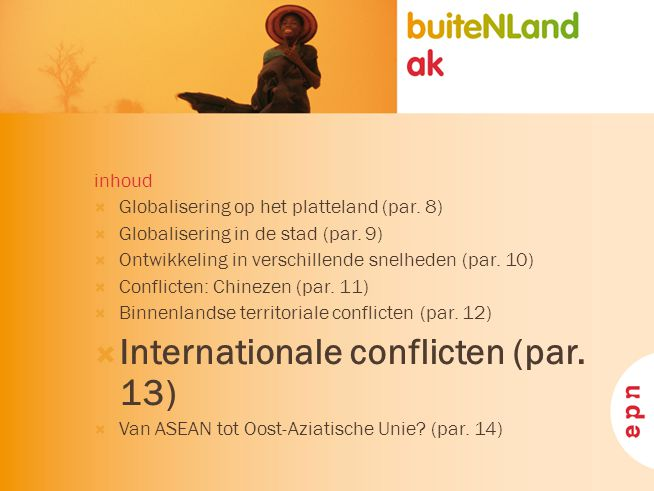 Internationale conflicten (par. 13)