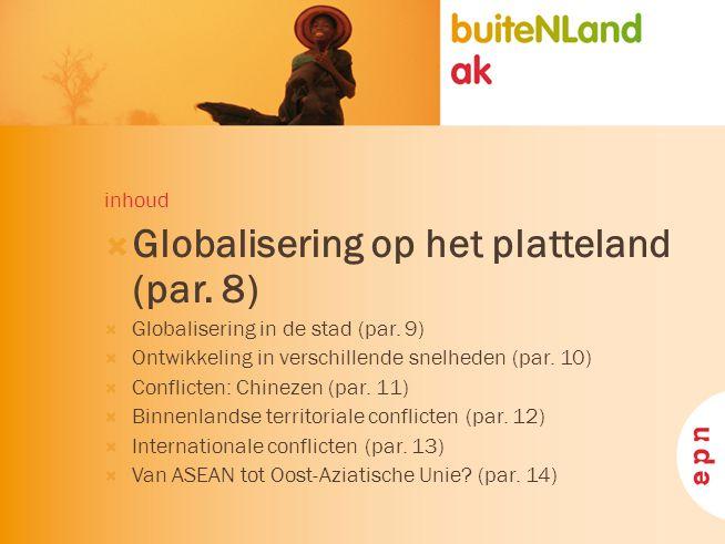 Globalisering op het platteland (par. 8)
