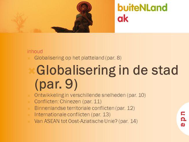 Globalisering in de stad (par. 9)