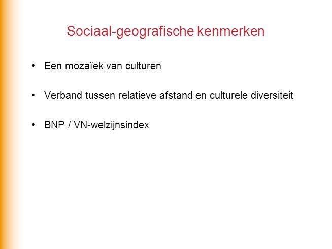 Sociaal-geografische kenmerken