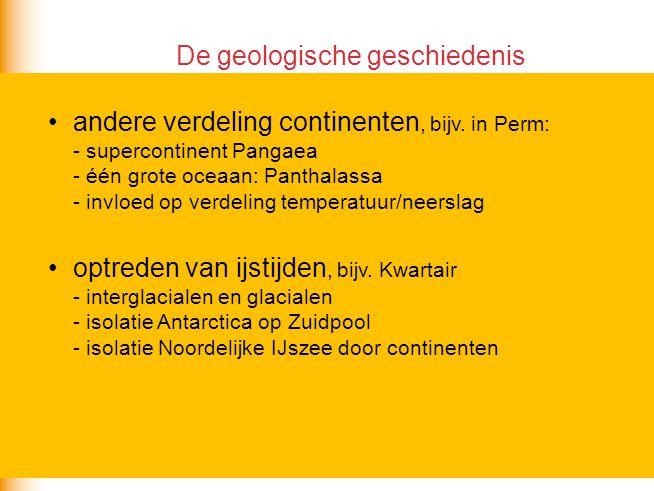De geologische geschiedenis