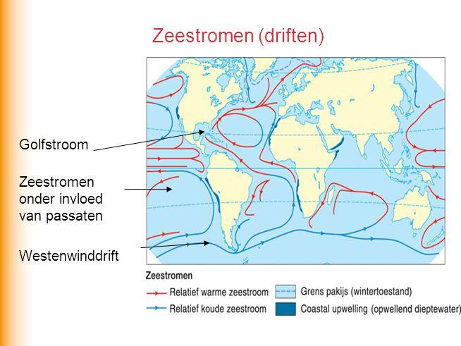 Zeestromen (driften) Golfstroom Zeestromen onder invloed van passaten