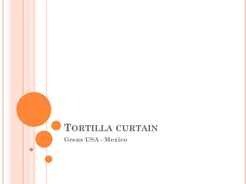 Tortilla curtain Grens USA - Mexico