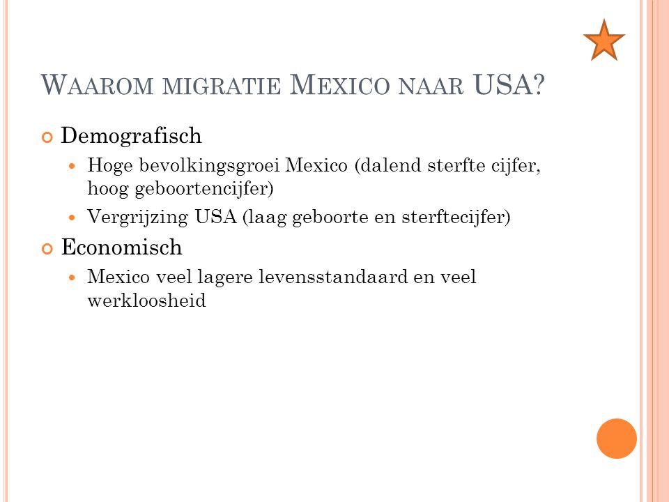 Waarom migratie Mexico naar USA
