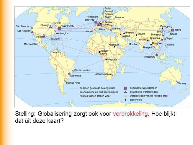 Stelling: Globalisering zorgt ook voor verbrokkeling