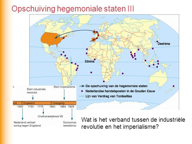 Opschuiving hegemoniale staten III