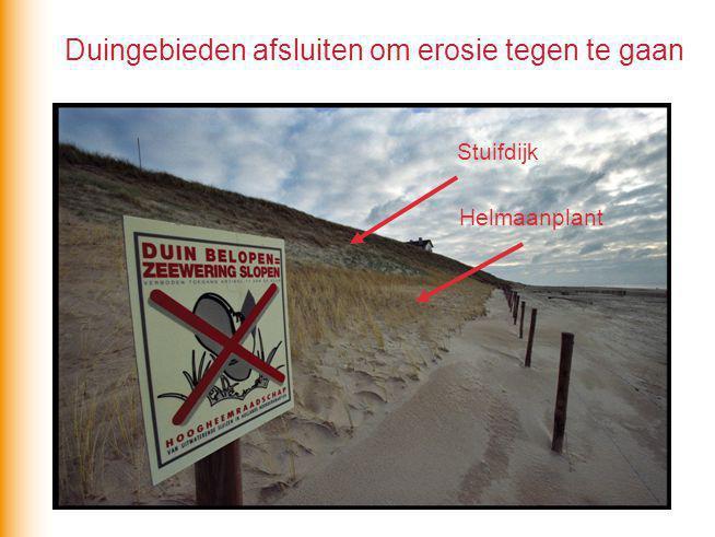 Duingebieden afsluiten om erosie tegen te gaan
