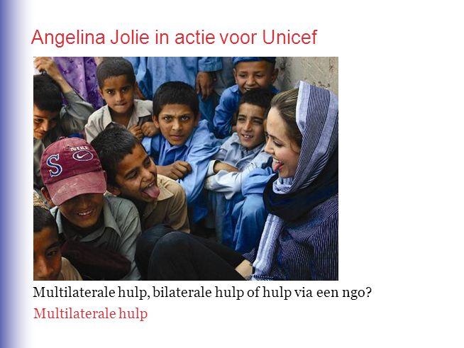 Angelina Jolie in actie voor Unicef