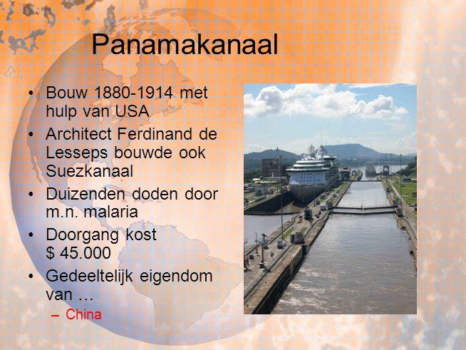 Panamakanaal Bouw 1880-1914 met hulp van USA