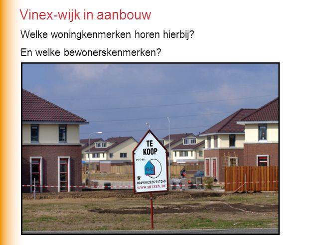 Vinex-wijk in aanbouw Welke woningkenmerken horen hierbij