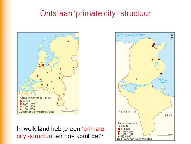 Ontstaan 'primate city'-structuur