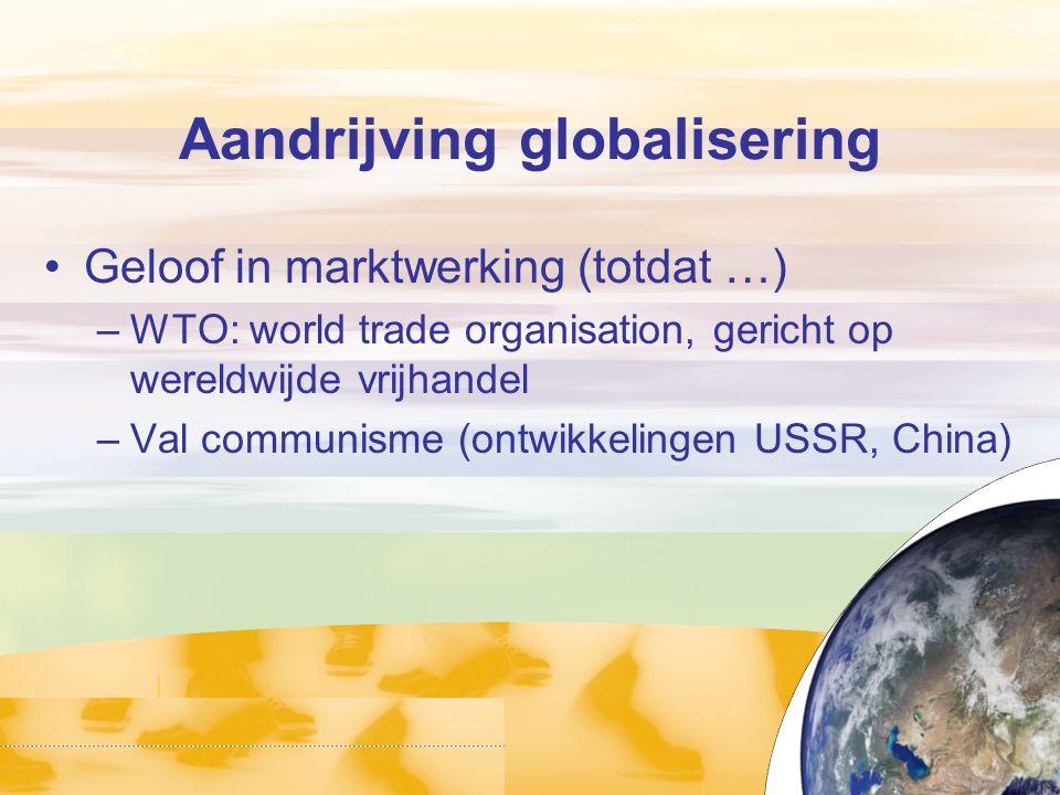 Aandrijving globalisering