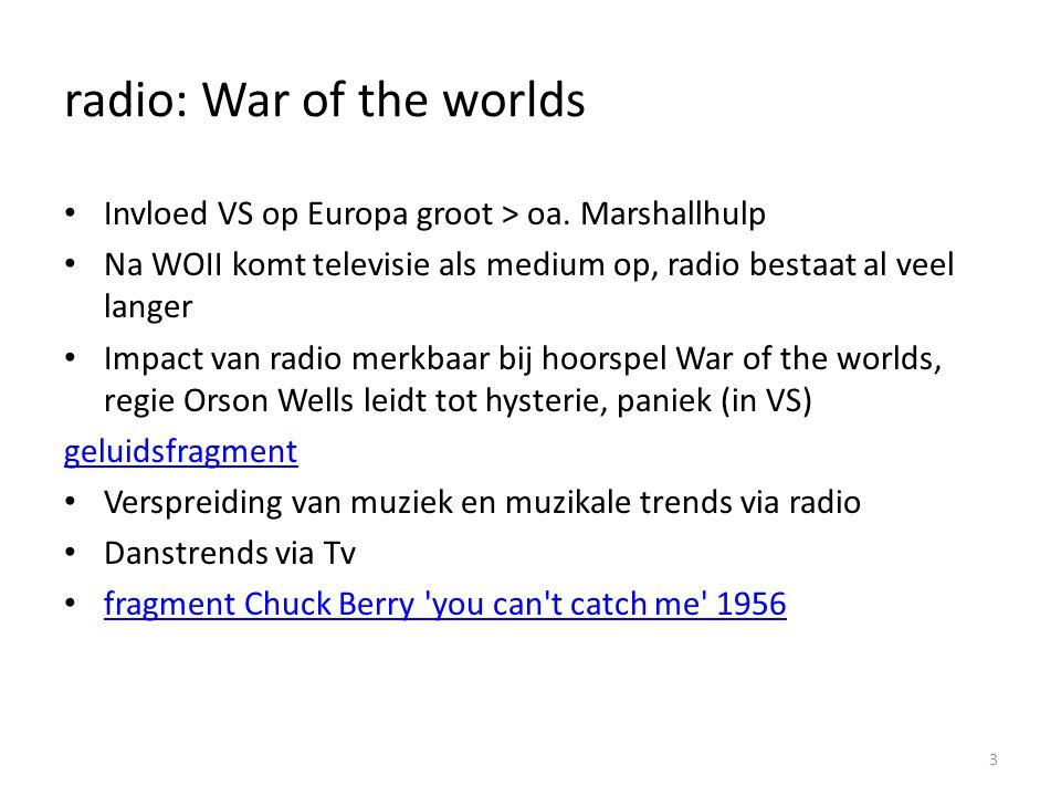 radio: War of the worlds
