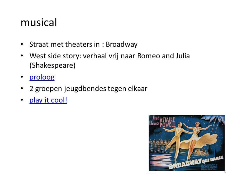 musical Straat met theaters in : Broadway