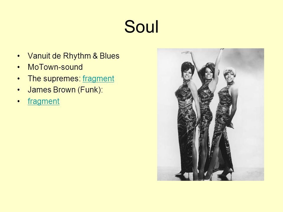 Soul Vanuit de Rhythm & Blues MoTown-sound The supremes: fragment