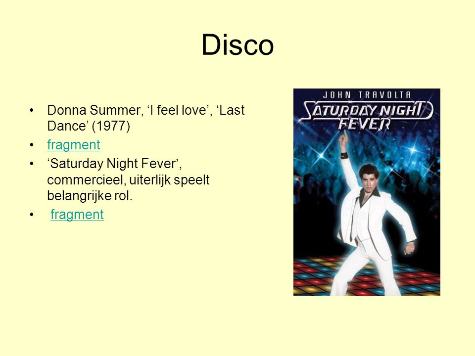 Disco Donna Summer, 'I feel love', 'Last Dance' (1977) fragment
