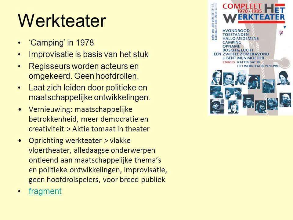 Werkteater 'Camping' in 1978 Improvisatie is basis van het stuk