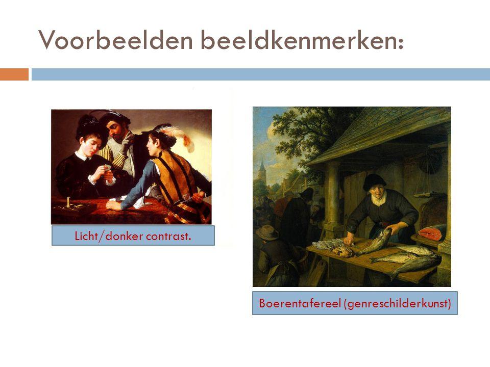 Voorbeelden beeldkenmerken: