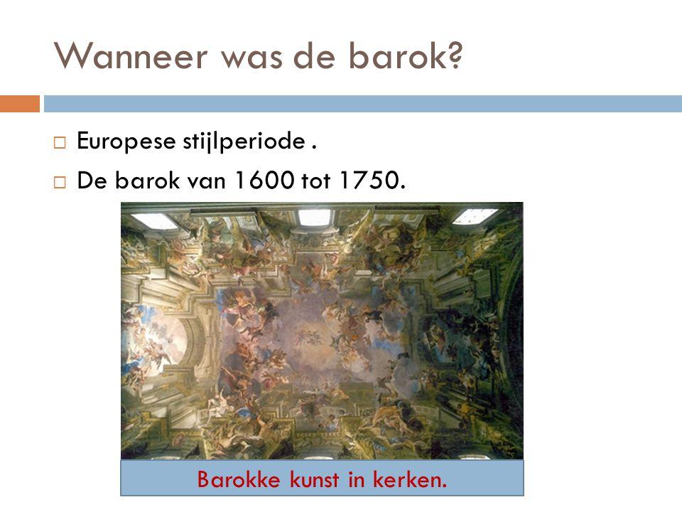 Barokke kunst in kerken.