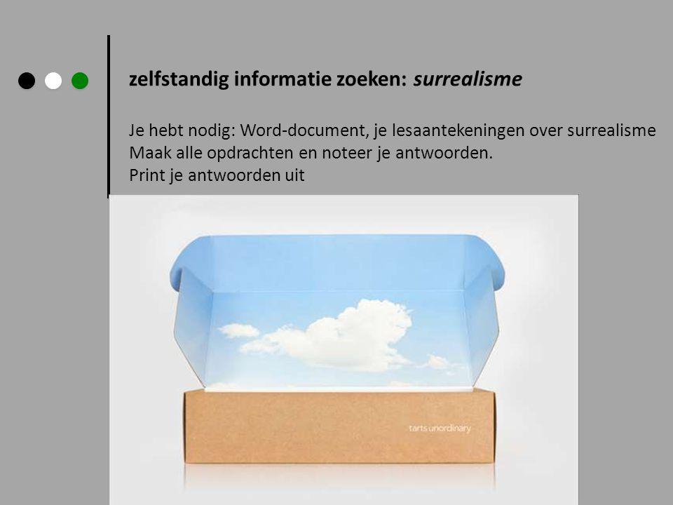 zelfstandig informatie zoeken: surrealisme